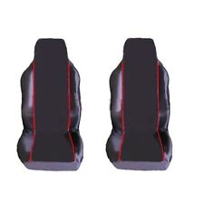 SUZUKI SWIFT 92-03 1+1 FRONT SEAT COVERS BLACK RED PIPING