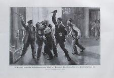 Schöfer: Ermordung deutsche Botschafsbeamten Hofrat Kattner - Druck aus ca 1917