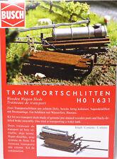 H0 BUSCH Transportschlitten Bremsanlage Tank Milchtank Langtank Holz Top # 1631