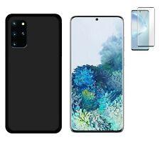 Funda Samsung Galaxy S20+ Plus Negra TPU GEL SILICONA + PROTECTOR COMPLETO 3D