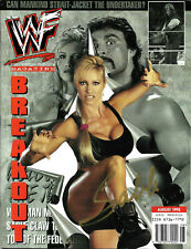 WWE SABLE HAND SIGNED AUTOGRAPHED AUGUST 1998 ORIGINAL MAGAZINE WITH COA RARE