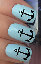NAIL ART SET #298. x24 SHIP BOAT NAUTICAL ANCHORS WATER TRANSFERS/DECAL/STICKERS