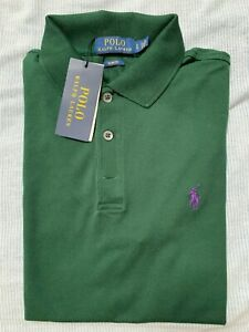Maglietta Polo Uomo Polo Ralph Lauren Verde Scuro Cotone Piquet taglia S