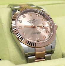 Rolex Datejust 41mm 126331 Oyster 18K Rose Gold /SS Diamond Dial Watch 2017*NEW