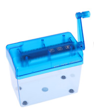 Mini A6  Paper Shredder Manual Paper Cutter Shredder Tabletop Shredder Blue