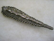 """HEIDI DAUS """"Quite The Quill"""" Crystal Feather Pin (Orig.$179.95)"""