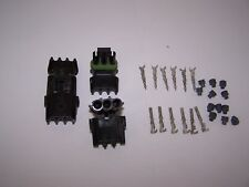 WATERPROOF PLUG CONNECTORS 3 WIRE SET OF 2 PAIRS WITH PINS AND SEALS