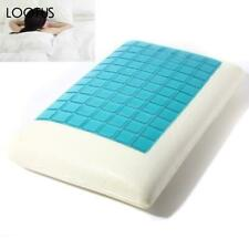 White Memory Foam Cooling Gel Orthopedic Pillow Head Neck Support For Sleeping