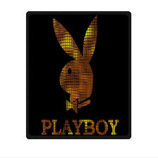 """special edition Playboy Logo Gold Blanket 58"""" x 80"""" (Large) throw"""