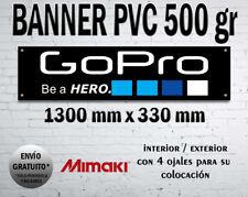 LONA CANVAS BANNER GOPRO MTB CLIMB SPORTS CAMERA BIKE WILD CAVEMAN GARAGE
