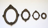 Set of 4 Gothic Frames, Black, Gold Patina, Classic Style, Worldwide Delivery