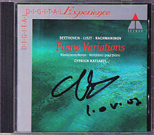 Cyprien Katsaris firmato Beethoven eroica variations Liszt Rachmaninov CD