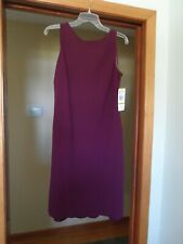 Jones Wear womens formal cocktail dress, eggplant, size 14 - New with tags!