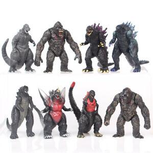 "8 Pcs Godzilla King of The Monsters 3"" Godzilla vs King Kong Model Figure Toys"