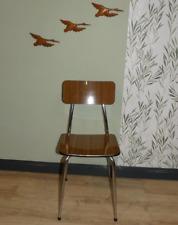 fine kitchen chair chrome resopal wood look