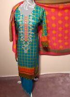 Pakistani women 3pc Readymade Embroidered Linen shalwar kameez suit