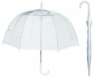 "46"" Arc Clear Full Dome Style Umbrella - RainStoppers Rain Fashion Bubble Travel"
