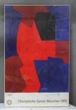 Original 1972 Munich Olympics Serge Poliakoff Art Series Lithograph Poster Frame