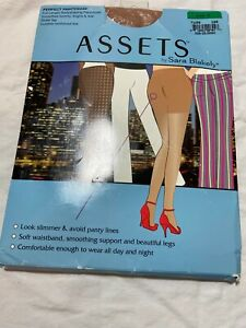 New Spanx Assets Perfect Pantyhose 3 Full Length Shaping Nude Sheer Leg