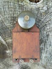 More details for antique 1920s electric door bell, mahogany gunmetal, 6v d.c. tested and working.