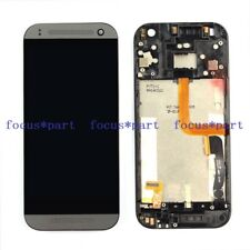 Black HTC One Mini 2 M8 Mini Touch Digitizer +LCD Display Assembly With Frame