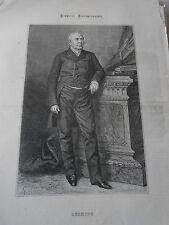 Gravure 1869 - Portrait de M. Berryer