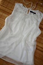 HALLHUBER Tunika Shirt Seidentop Gr. 40 / UK 12 neu Seide Weiß