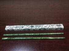 VINTAGE NEW NOS  PAIR OF CHINESE GREEN SPINACH JADE CHOPSTICKS IN RICE PAPER BOX