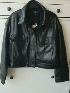 Zara Short Black Sequinned Quilted Jacket Size M BNWT RRP £69.99