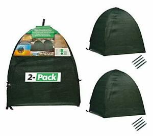 """NuVue Products 22252 28"""" x 28"""" x 30"""" 2 pack Winter Snow and Frost Cover Green"""