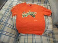 Greensboro Grasshoppers orange crewshirt youth sz M-Y  - DSCN2903