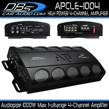 4-Channel Amplifier 1000W Max Fullrange Car Audio Amp Audiopipe APCLE-1004