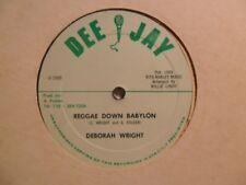 """DEBORAH W RIGHT Reggae Down Babylon DEE JAY Roots Reggae 12"""" Killer! HEAR V16"""