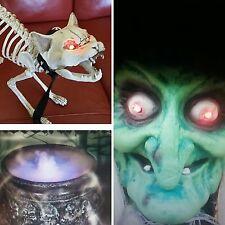 Fiesta de Halloween Utilería BRUJA CALDERO Mister///Luces De Paquete De Bruja Esqueleto Cat+5FT