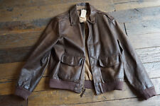 Polo Ralph Lauren Distressed Leather a2 Flight Jacket, Size L