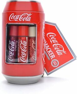 Lip Smacker Coca-Cola Tin Can Collection Set of Lip Balms 6 Pack Flavour