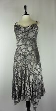 ☆ PHASE EIGHT New Size 16 Dress Silk Viscose Devore Silver Grey