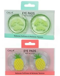 CALA HOT & COLD EYE PADS Microwavable & Freezable - 2x: Cucumber & Pineapple