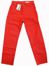 "ASOS ""Florence"" buttonfly boyfriend TANGERINE jeans 28x28 (8-10 S) NWT $70.00!"