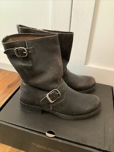 Frye Women's Veronica Short Leather  Moto Biker Boots BLK  Sz 8