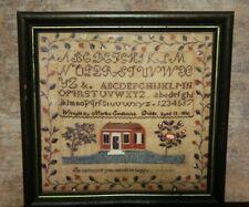 Vintage Embroidered Sampler Dublin Made England by Martha Southwick Print 1836