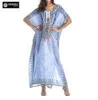 Vestito Lungo Copricostume Donna Maxi Dress Caftano Woman Kaftan Dress COV0072C