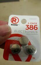 3 pc 386 Renata Watch Batteries--Radio Shack 2302227