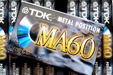 TDK MA 60 METAL POSITION TYPE IV BLANK AUDIO CASSETTE - 1997
