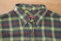Q413 Signum Hemd Größe L kariert rot grün blau - Herren Herrenhemd Kurzarm