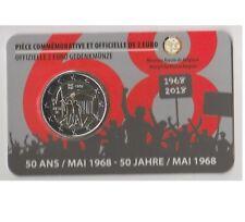 Belgio 2€ 2018 Rivoluzione 1968  Coin Card versione francese