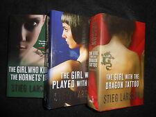 Stieg Larson; Girl With the Dragon Tattoo/Hornet/Fire, Millennium Trilogy - 1st