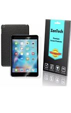 ZenTech Clear Screen Protector & Stick On Carbon Fiber Cover For iPad Mini 1