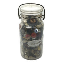 Old Vintage Glass Jar Full Of Antique Buttons From The 1800's Mixed Lot 3.5 Lbs