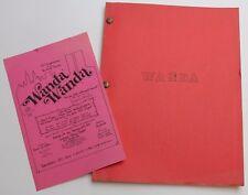 WANDA WANDA / Frank de Felitta 1983 Play Landmark Alliance Theater
